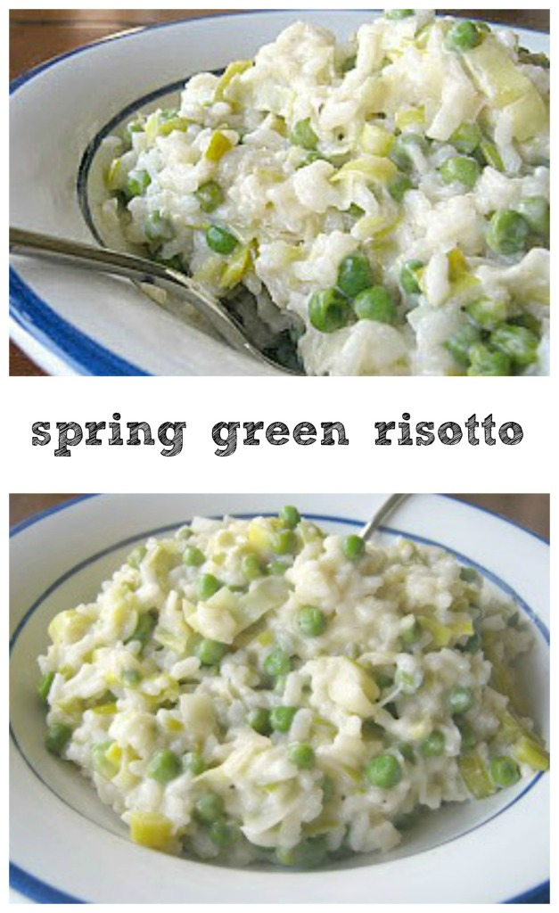 Spring Green Risotto - tons of spring produce in a light risotto!