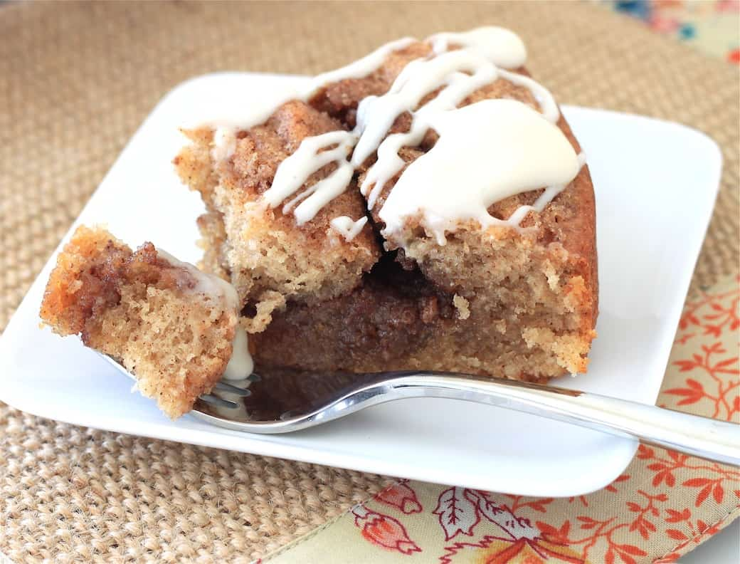Cinnamon Roll Coffee Cake Greens Chocolate