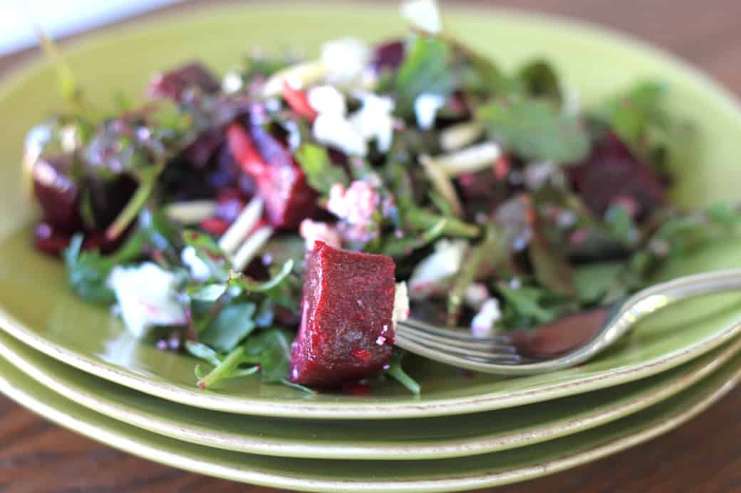 beet and goat cheese arugula salad | greens & chocolate