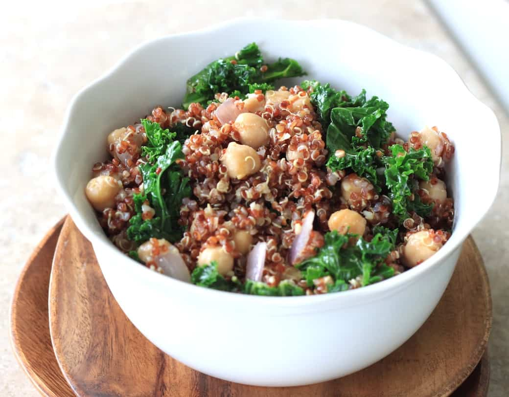 kale and chickpea quinoa salad greens  chocolate