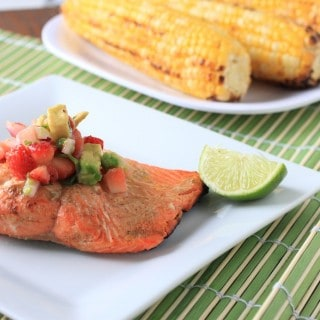 strawberry avocado salsa salmon