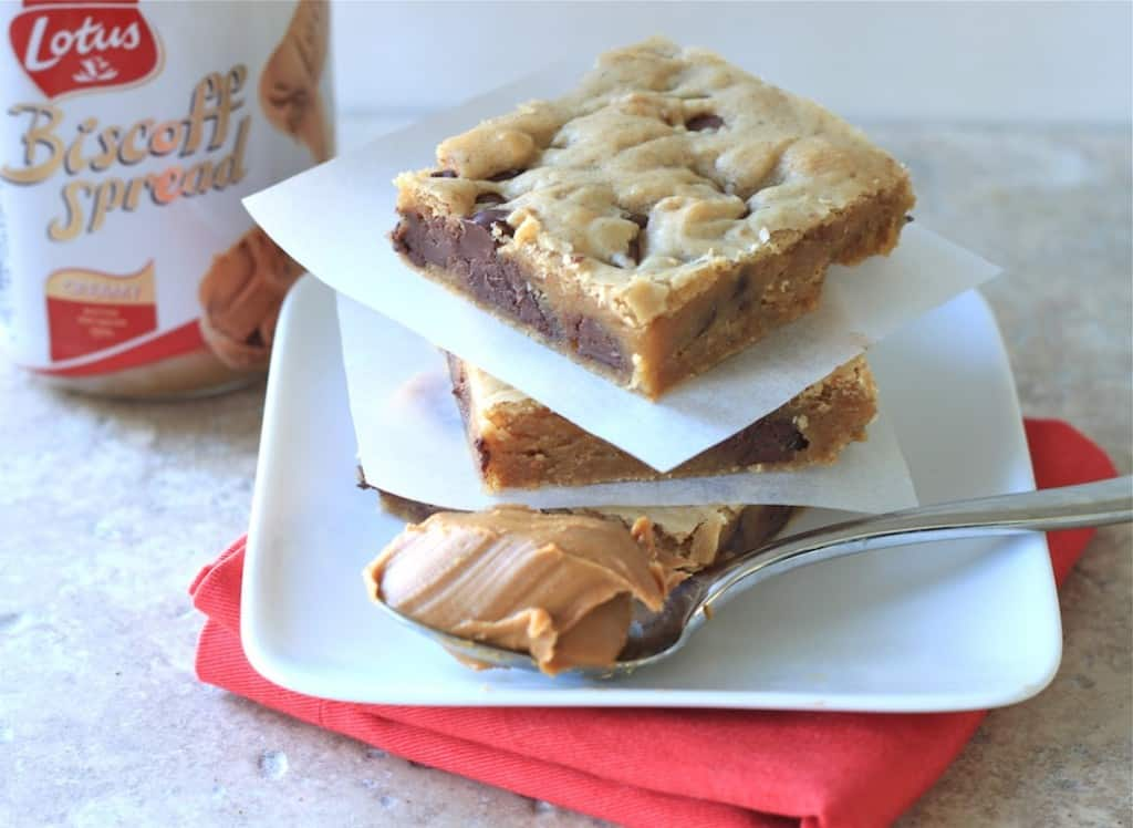 biscoff blondies