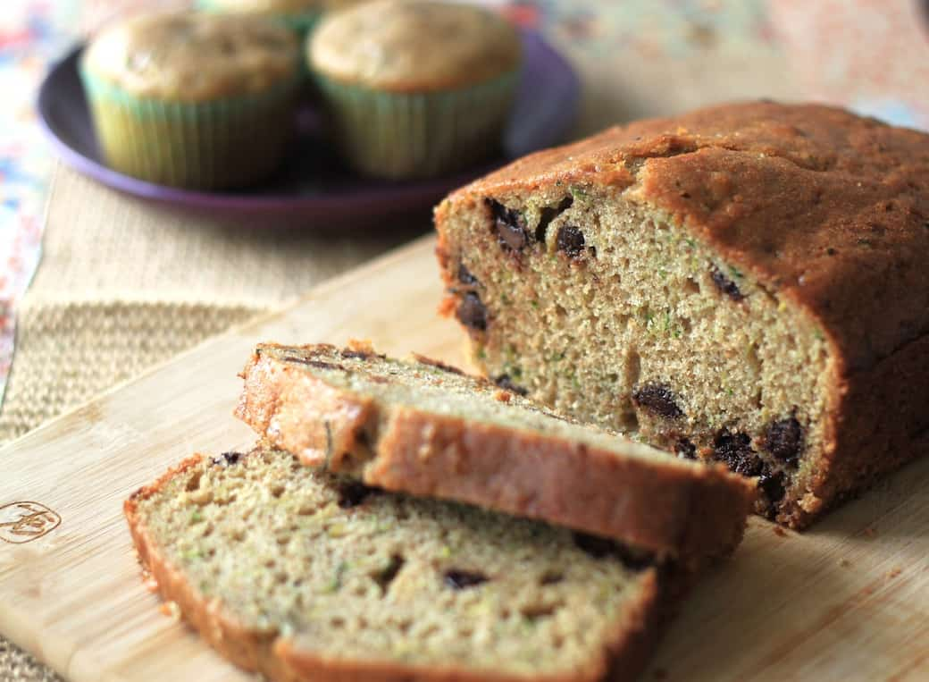 chocolate chip zucchini bread and muffins | greens & chocolate