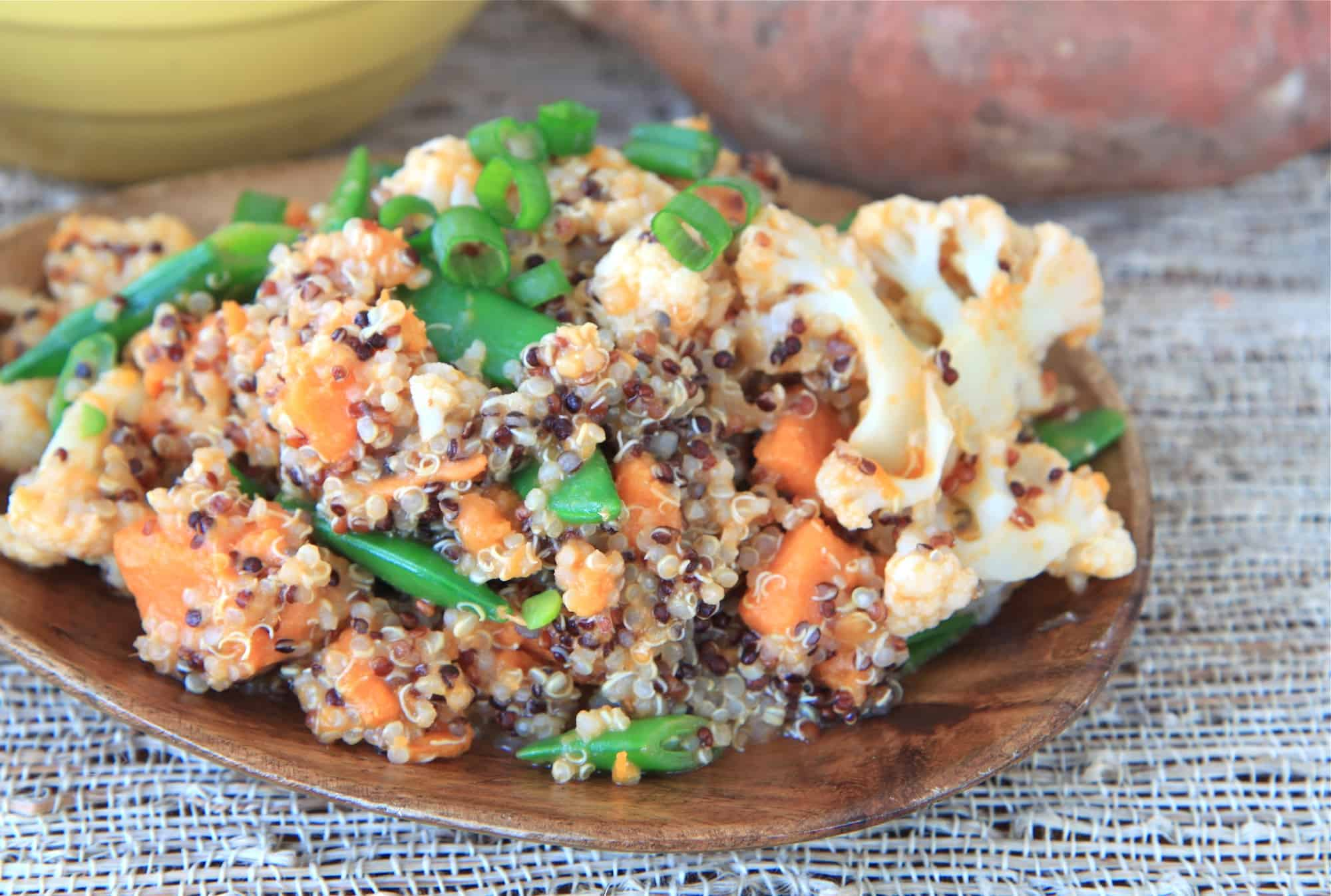 sweet potato and quinoa salad with spicy-peanut thai dressing | greens ...