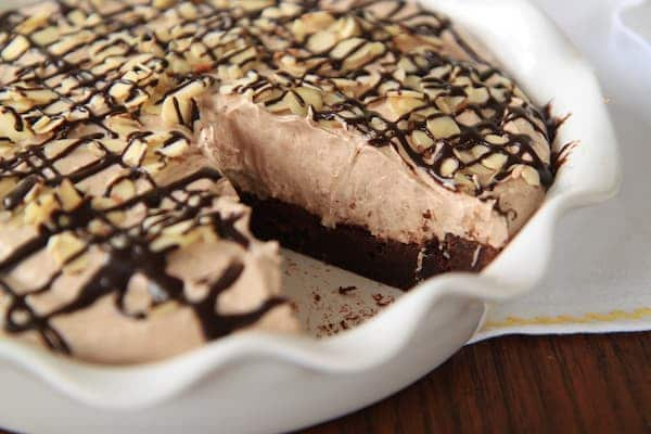mocha almond fudge pie