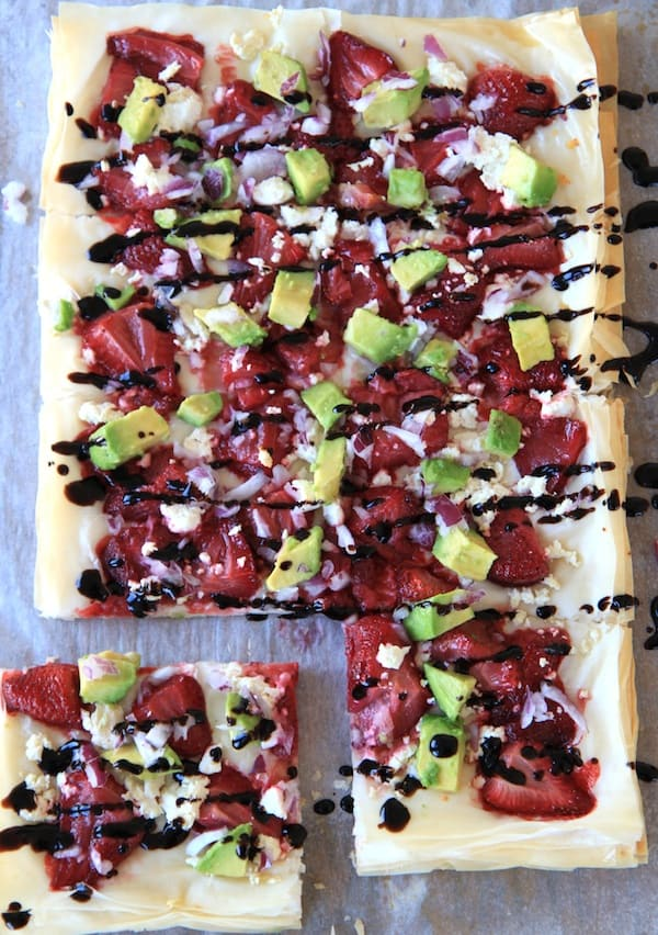 roasted strawberry flatbread