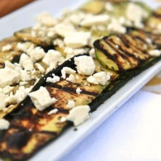 greek-spiced grilled zucchini with feta