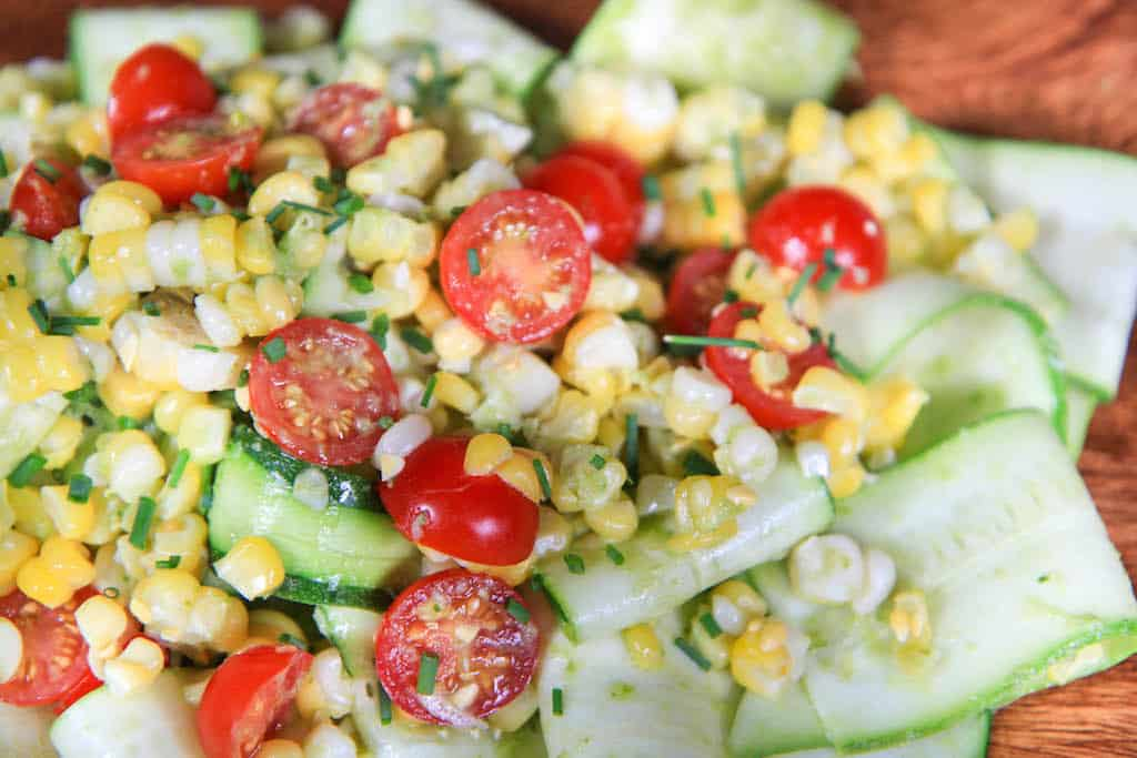 corn avocado zucchini and corn taco seasoned quinoa salad sweet corn ...