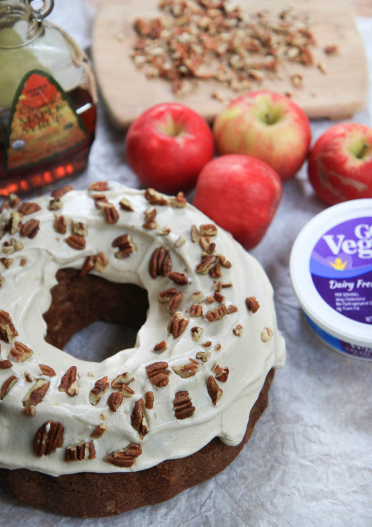 Apple Bundt Cake with Maple Cream Cheese Frosting