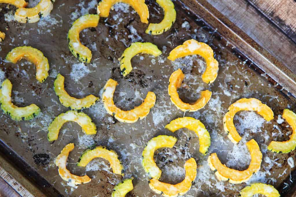 Asiago Roasted Delicata Squash