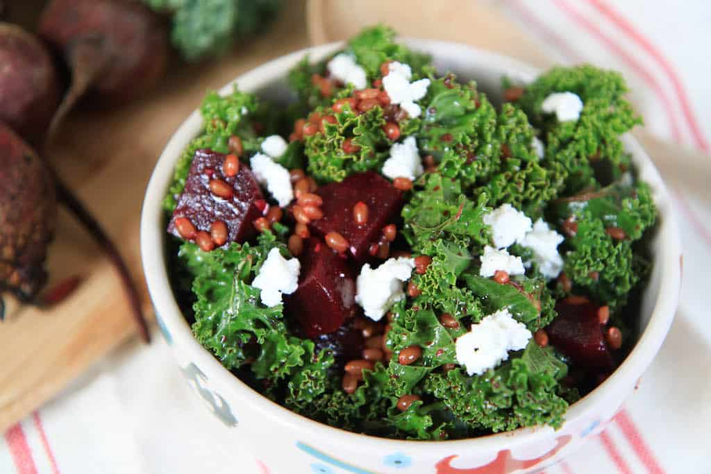 Beet and Kale Wheatberry Salad-2