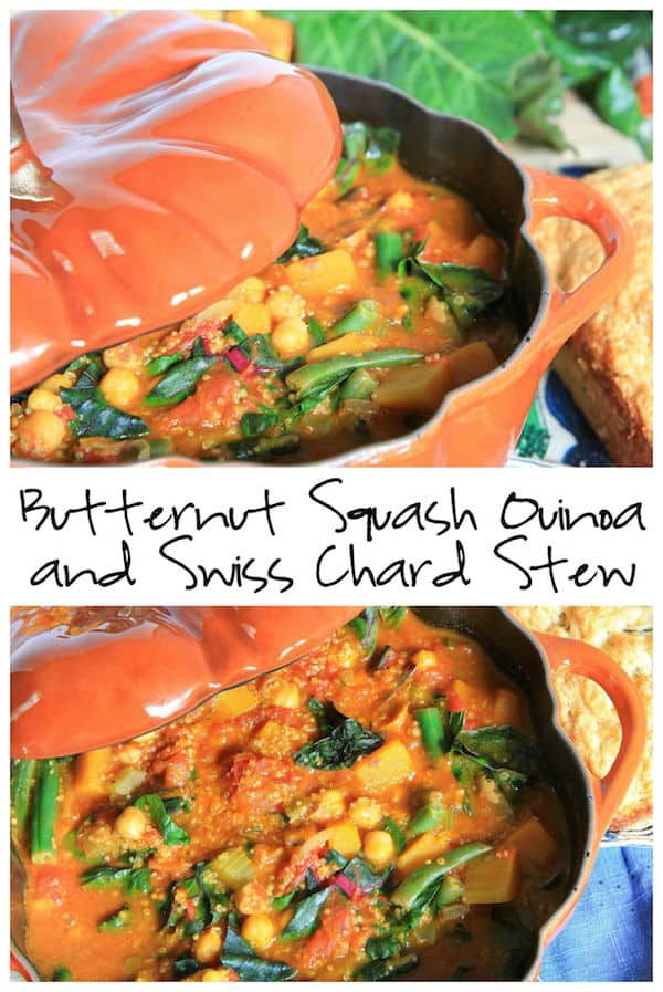 Butternut Squash Quinoa and Swiss Chard Stew