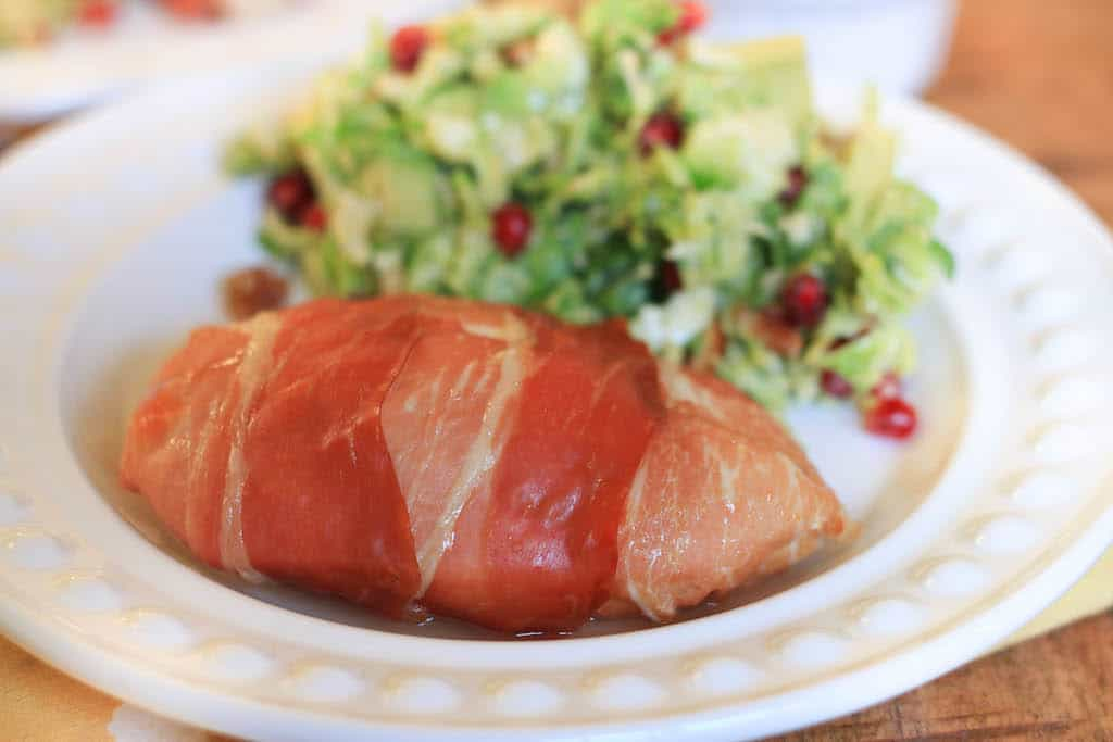 simple saturday: prosciutto wrapped and goat cheese stuffed chicken