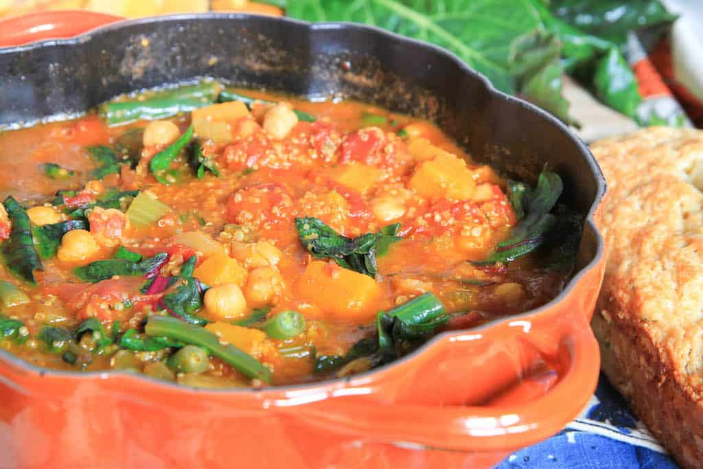 Butternut Squash, Quinoa, and Swiss Chard Minestrone