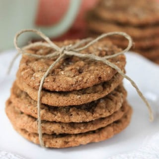 brown butter oatmeal ginger cookies