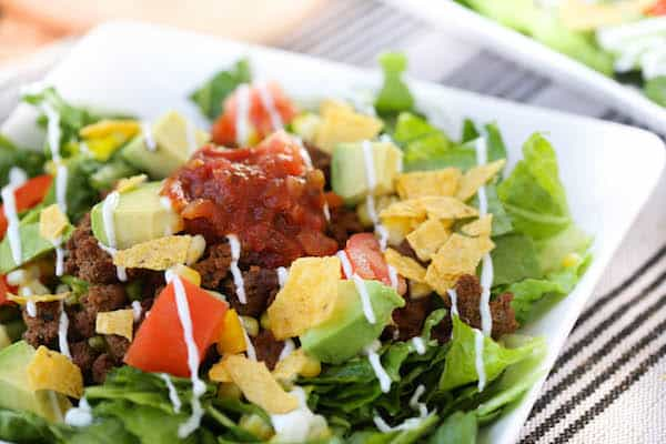 Quick and Easy Taco Salad - ready in less than 30 minutes makes it perfect for a weeknight dinner!