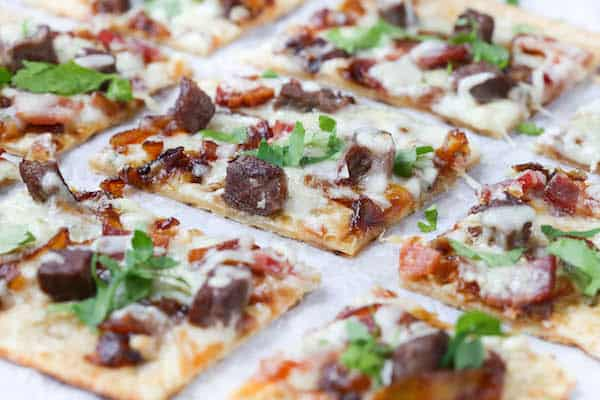 Beef, Bacon, and Blue Cheese Flatbread