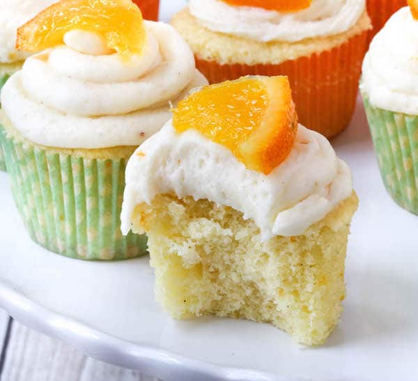 Orange Creamsicle Cupcakes