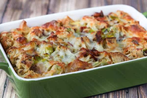 Bacon and Leek Strata