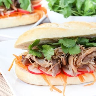 Slow Cooker Pulled Pork Banh Mi