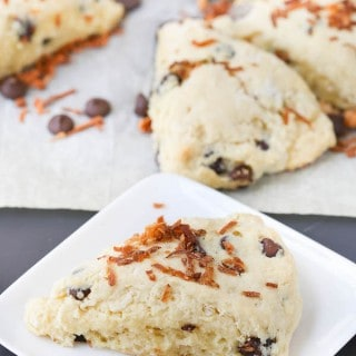 Coconut and Dark Chocolate Ricotta Scones