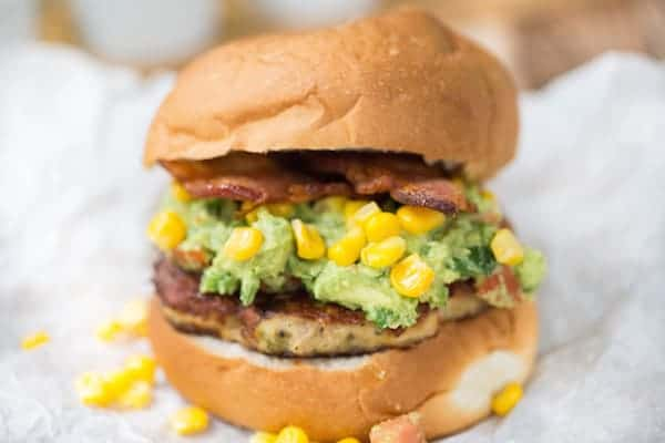 Bacon Guacamole Tex Mex Chicken Burgers