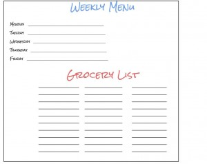 Customizable Meal Plan and Grocery List