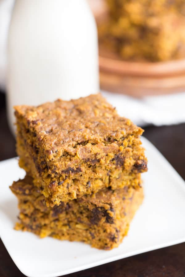 Pumpkin Chocolate Chip Oat Bars