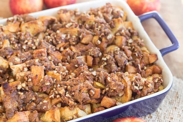 Caramel Apple French Toast Casserole