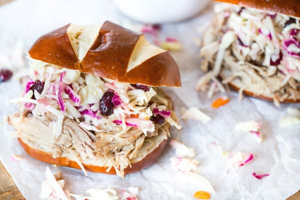Cider Pulled Pork with Cider Barbecue Sauce