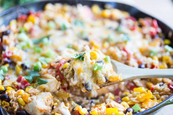 One Skillet Mexican Chicken and Rice-4