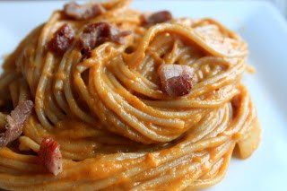 Butternut Squash Bacon and Gruyere Pasta