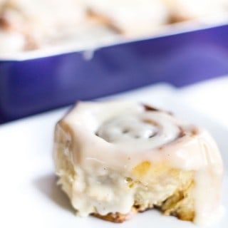 Brown Butter Eggnog Cinnamon Rolls