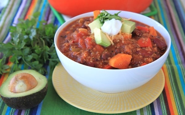 Sweet Potato and Quinoa Chili