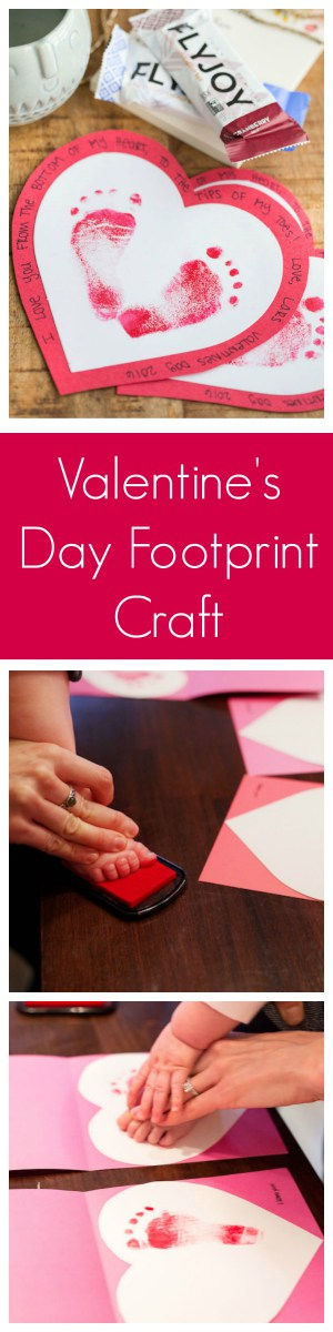 Valentine's Day Baby and Toddler Footprint Craft