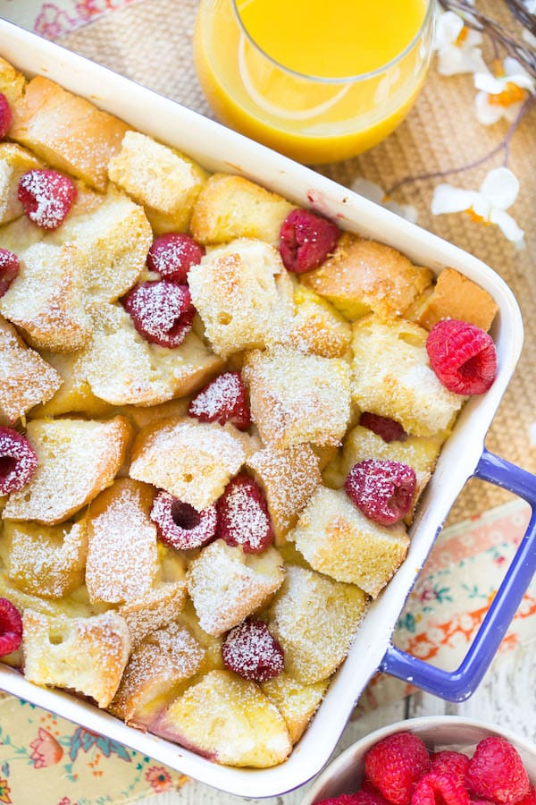 Lemon Raspberry French Toast Casserole is the perfect spring-time ...