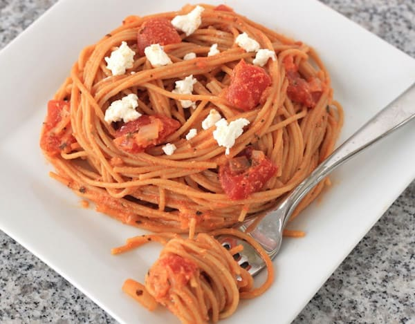 Goat Cheese and Tomato Pasta Sauce