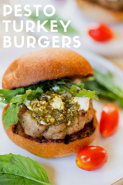 Pesto Turkey Burgers