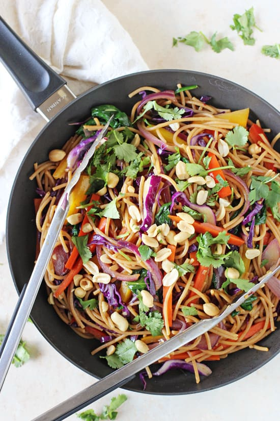 Rainbow Vegetable Lo Mein