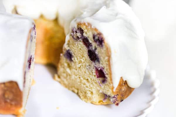 Blueberry Lemon Bundt Cake with Cream Cheese Frosting-