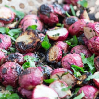 Garlic and Herb Butter Grilled Radishes