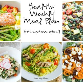 Healthy Weekly Meal Plan Week of 5.14.16