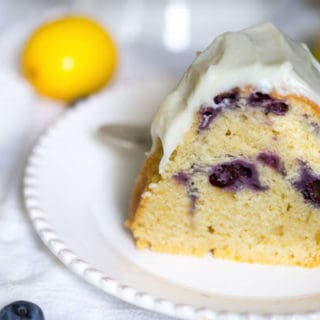 Blueberry Lemon Bundt Cake with Cream Cheese Frosting