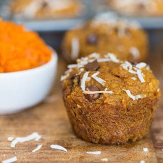 Pumpkin Coconut Chocolate Chip Muffins