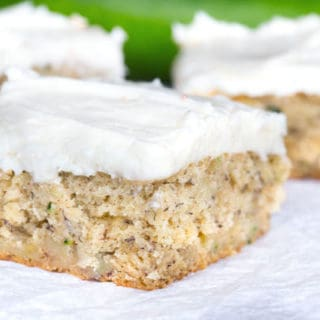 Zucchini Bars with Brown Butter Cream Cheese Frosting