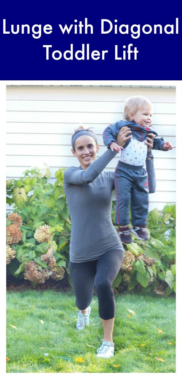 Lunge with Diagonal Toddler Lift