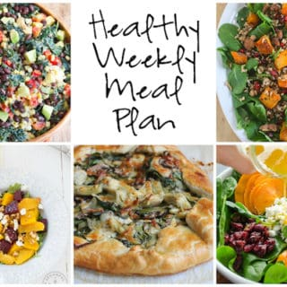 Healthy Weekly Meal Plan Week of 11.26
