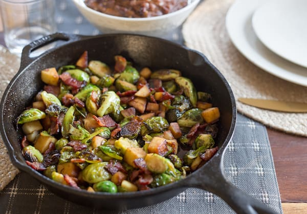 Maple Bacon Brussels Sprout Skillet
