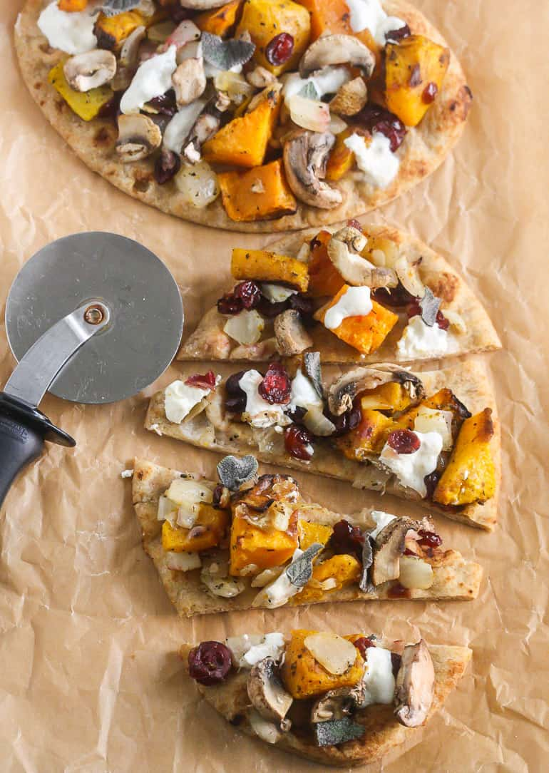 Butternut Squash and Caramelized Onion Flatbread Pizza