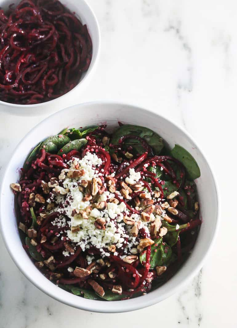 Spiralized Beet Quinoa